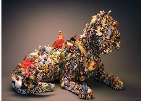Mary Engel, Bird Dog, mixed media, ceramic, 21 x 30 x 20 in.