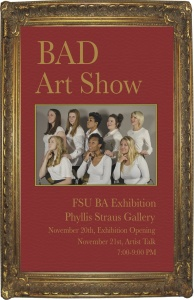 Bad Art Show – The first BA Studio Art thesis exhibition