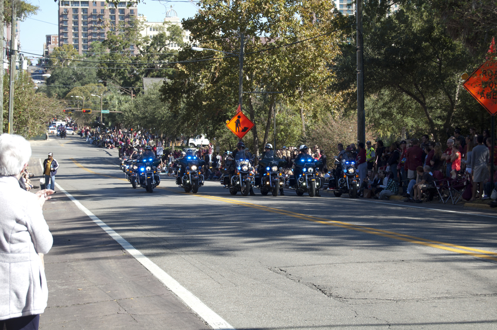 FSU Homecoming Parade, Police