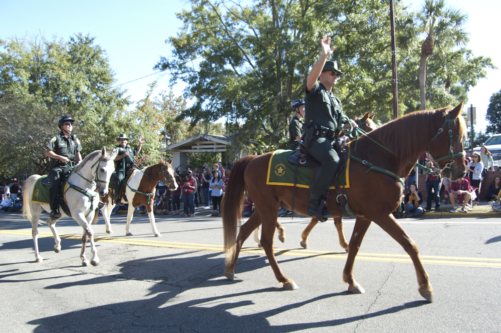 FSU Homecoming Parade, Sheriff's on horseback