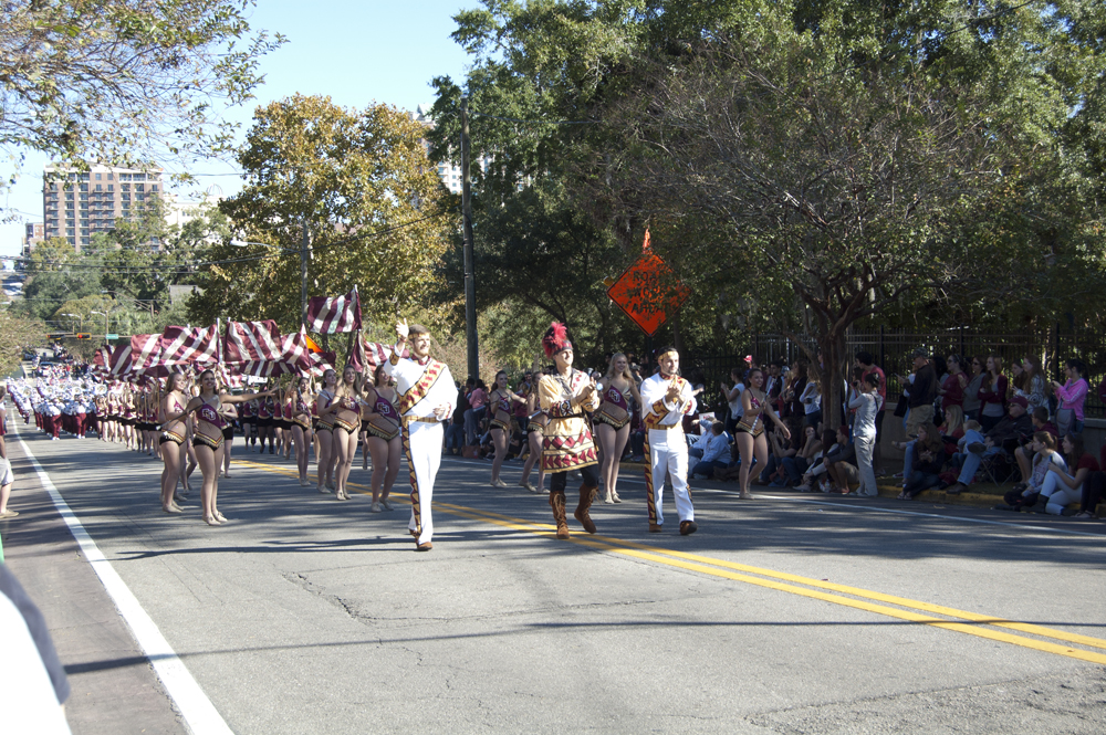 FSU Homecoming Parade, Chief's drum majors