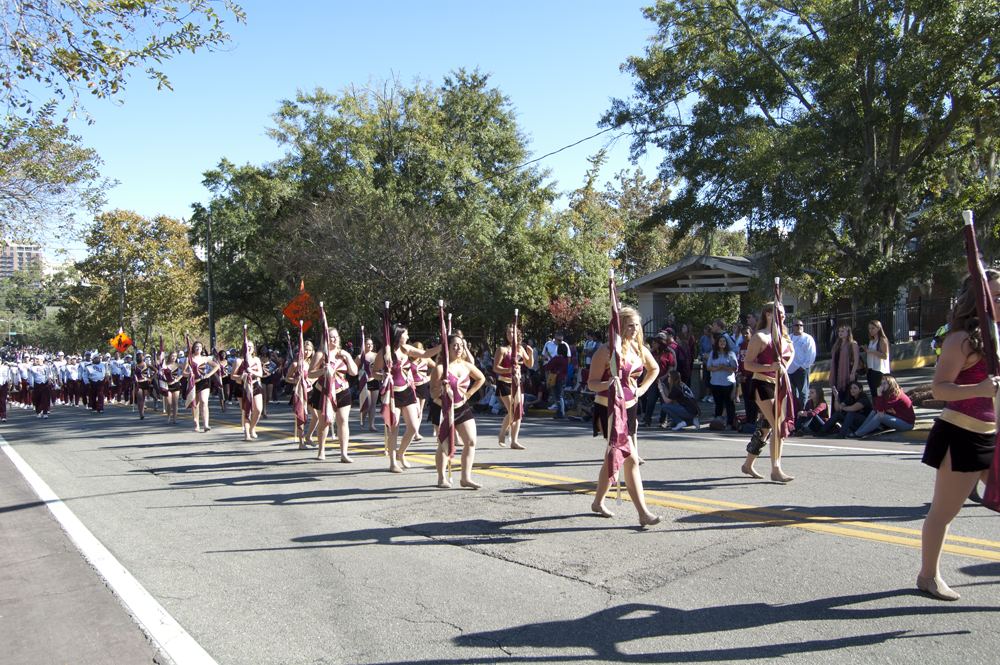 FSU Homecoming Parade, Colorguard