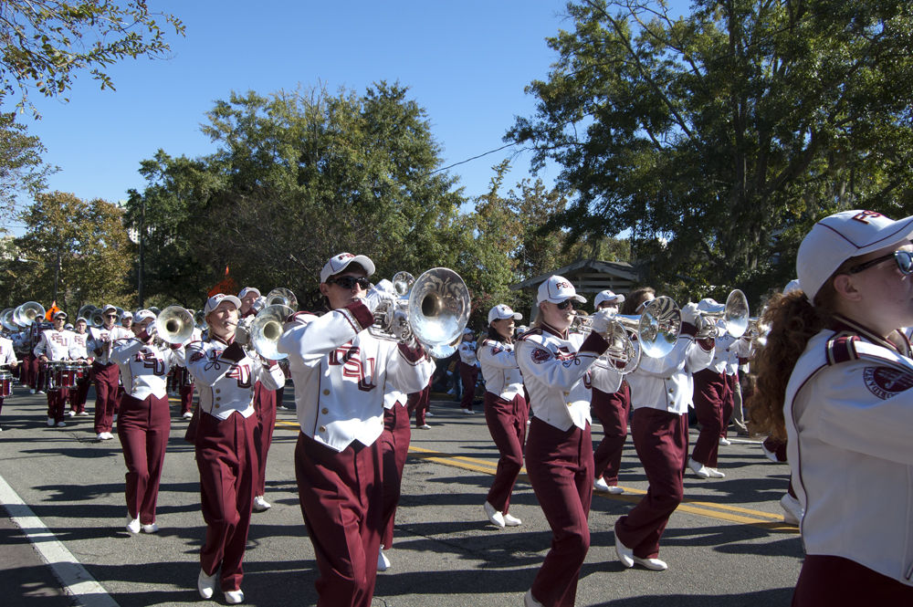 FSU Homecoming Parade, FSU Marching Chiefs