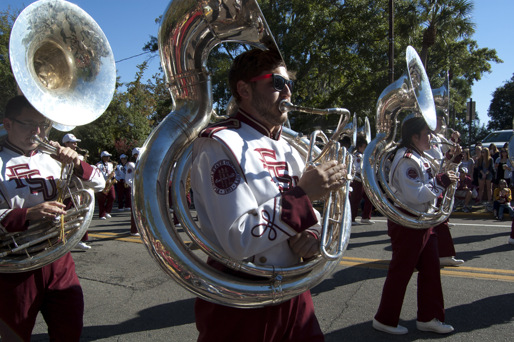 FSU Homecoming Parade, Marching Chiefs Royal Flush