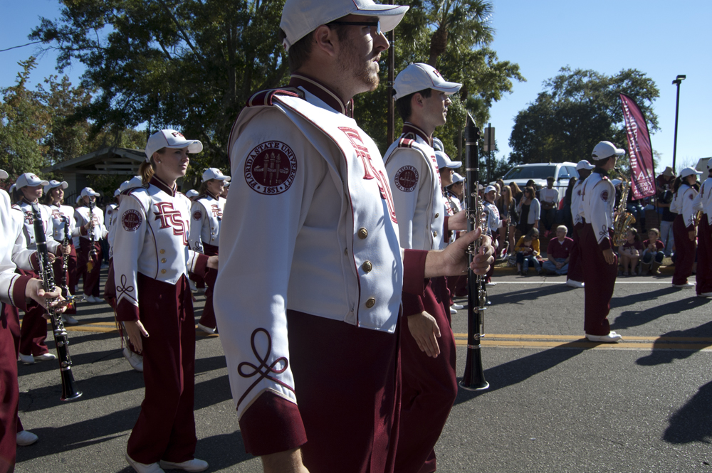 FSU Homecoming Parade, Marching Chiefs clarinets