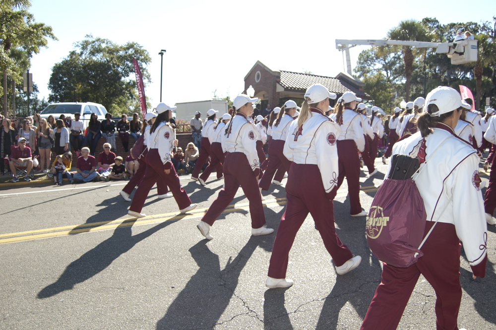 FSU Homecoming Parade, Marching Chiefs flutes