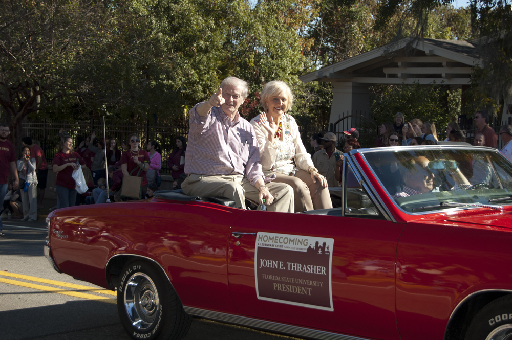 FSU Homecoming Parade, President Thrasher