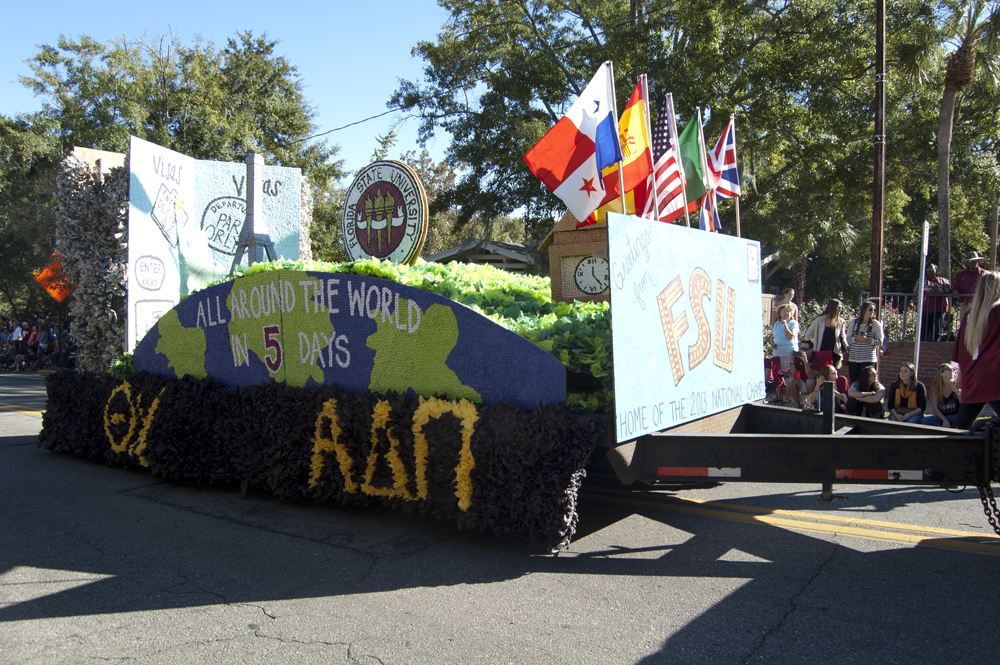 FSU Homecoming Parade, FSU Float