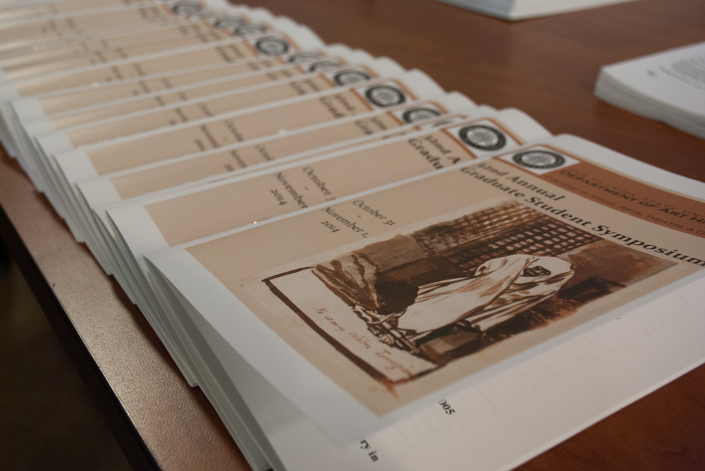 Angled photo of pamphlets