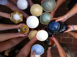 FSU Art Advanced Ceramics Students at First Friday Railroad Square