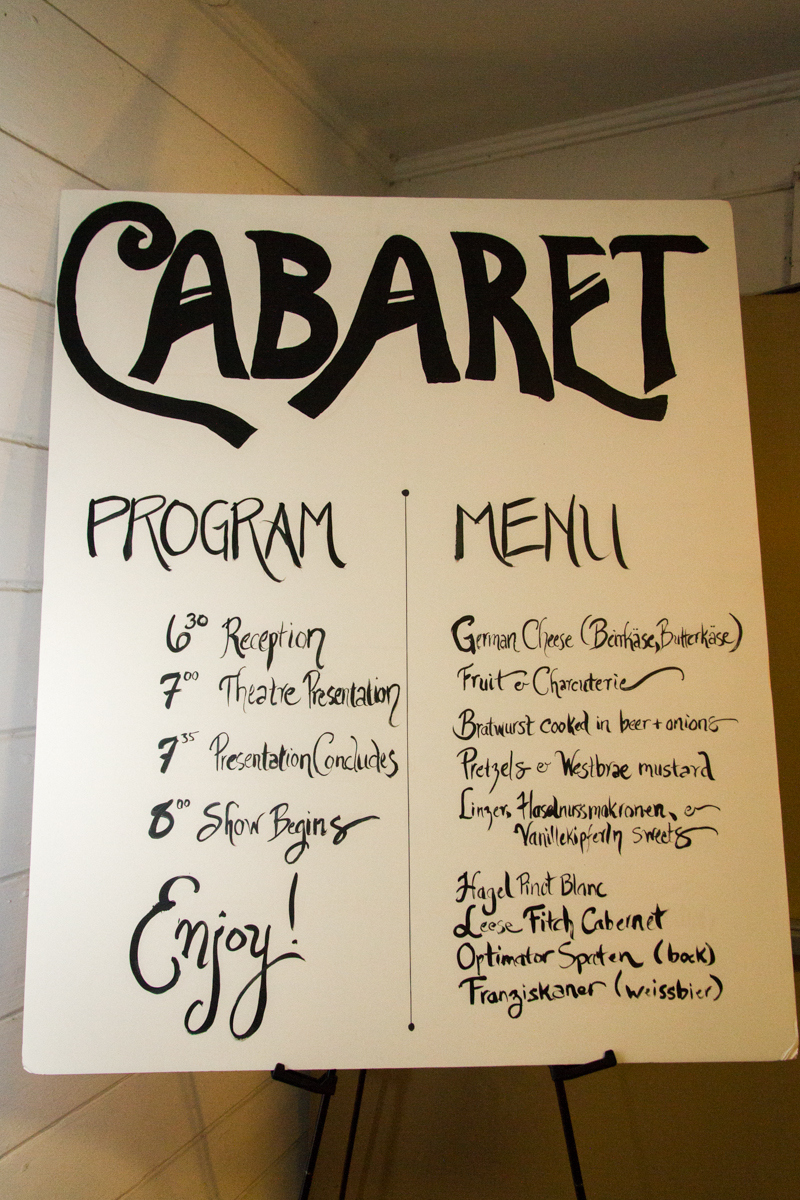 2014 Advisory Board Meeting, Cabaret