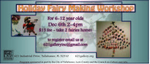 Fairy Making Workshop at 621 Gallery, 12/6