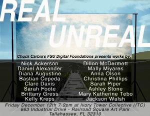 Chuck Carbia's FSU Art Digital Foundations class presents Real Unreal