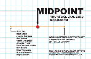 Midpoint Public Opening and Reception at Working Method Contemporary, 1/22