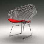 Diamond Chair by Harry Bertoia
