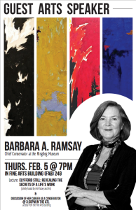 Chief Conservator at the Ringling Museum:  Barbara Ramsey, 2/5
