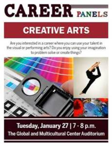 Creative Arts Career Panel 1/27
