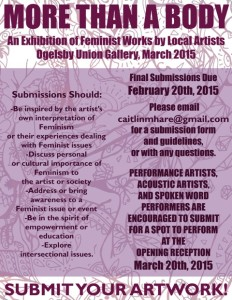 More Than A Body: An Exhibition of Feminist Works by Local Artists