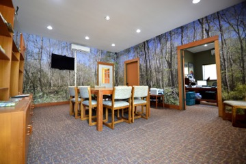 Conference room and offices at Wilderness Graphics