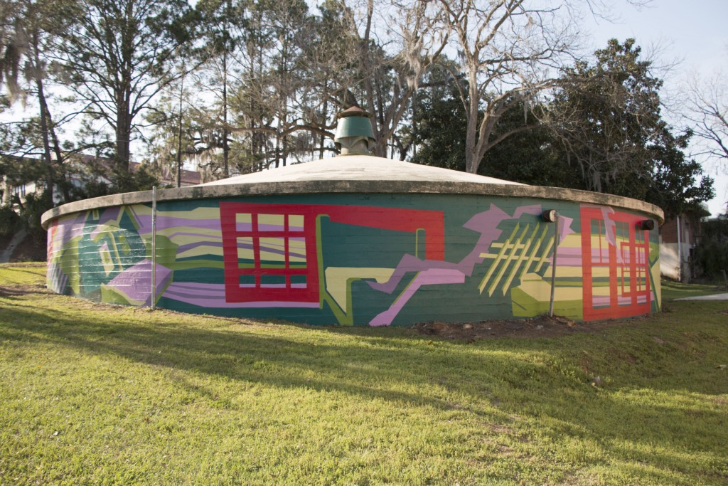Finished mural, SE view