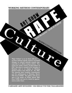 Art Show Rape Culture this thursday