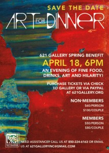 Art for Dinner@ 621 Gallery!