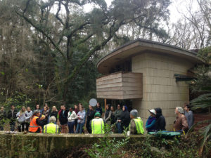 Students work on Frank Lloyd Wright's Spring House