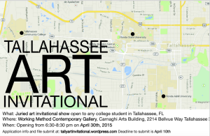 Tallahassee Art Invitational Opening Reception, 4/30/15, 6:30-8:30, CAB