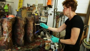 FSU BA '15 Dana Brown Interning with Ursula Von Rydingsvard in NYC