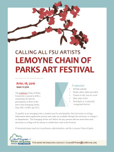 Calling All FSU Artists Lemoyne Chain of Parks Art Festival