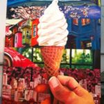 A painting of an ice cream cone.