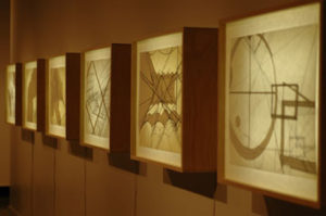 Hargrave's Machines Installation Shot, Digital Prints, Wax, Paper, Lightbox 2006