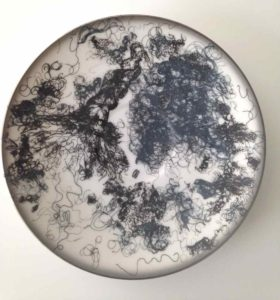 Split Ends, Drawings on vintage porcelain, 2014