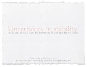 Uncertainty In Stability