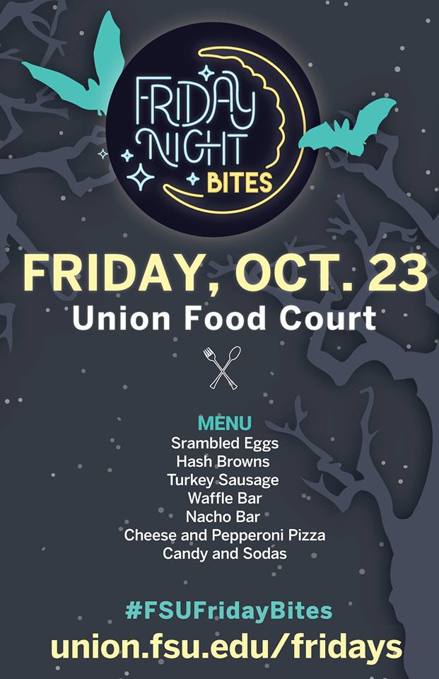 Haunted Harvest-themed Friday Night Bites poster