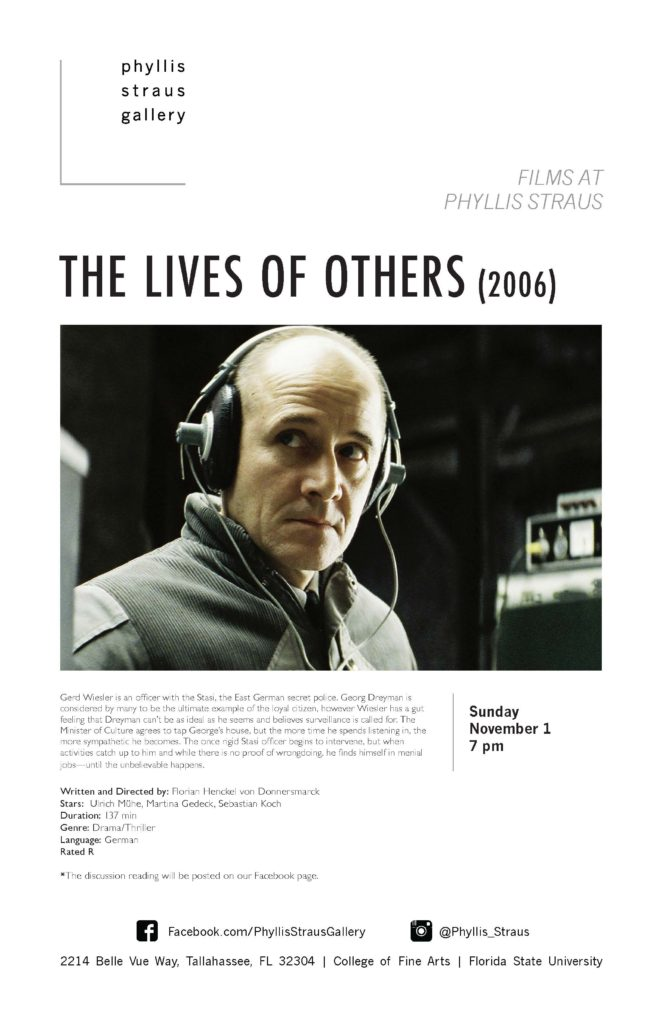 Films at Phyllis Straus: The Lives of the Others
