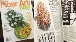 Exhibition review in Spring 2016 issue of Fiber Art Now Magazine