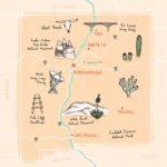 A doodled map
