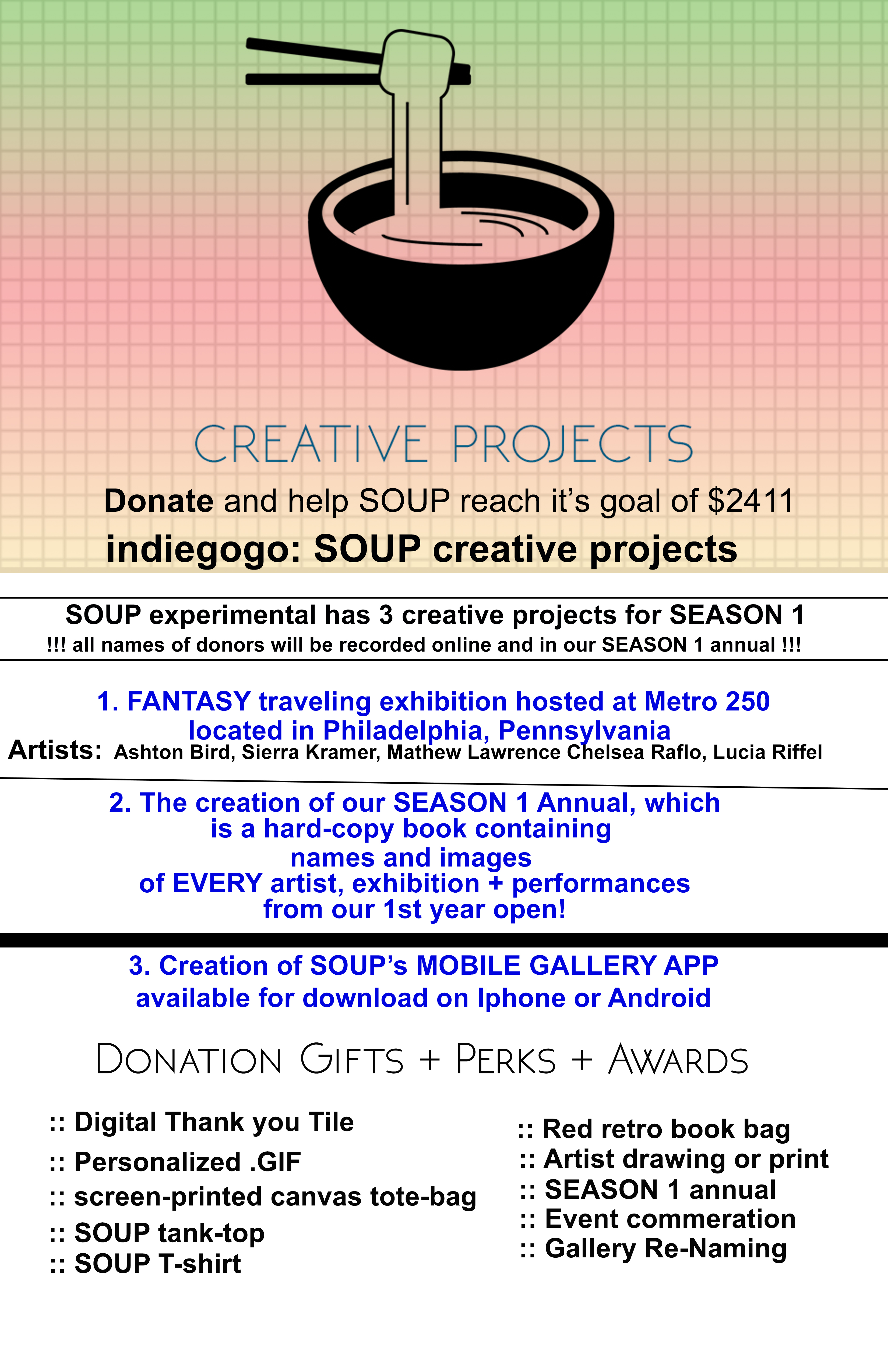 creative projects poster