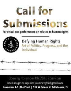 Amnesty International Call for Submissions