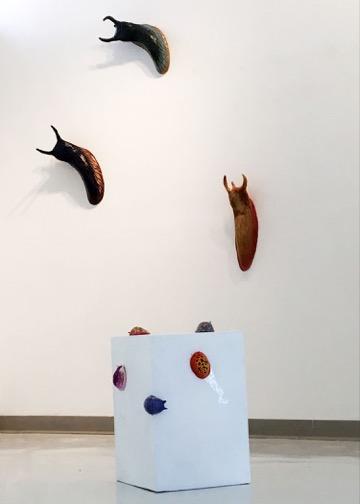 Zenya Hadidi (NCF '18) Advanced Sculpture Project 1 (mixed media sculptures)