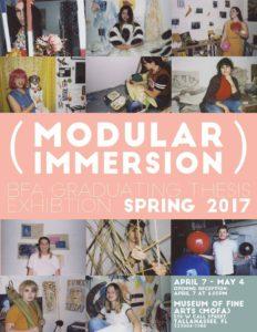 modular immersion spring bfa exhibit flyer