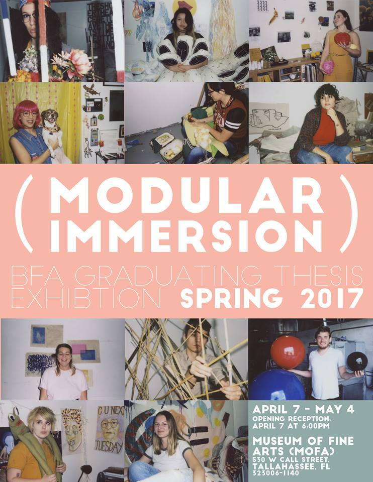 modular immersion spring bfa exhibit flyer