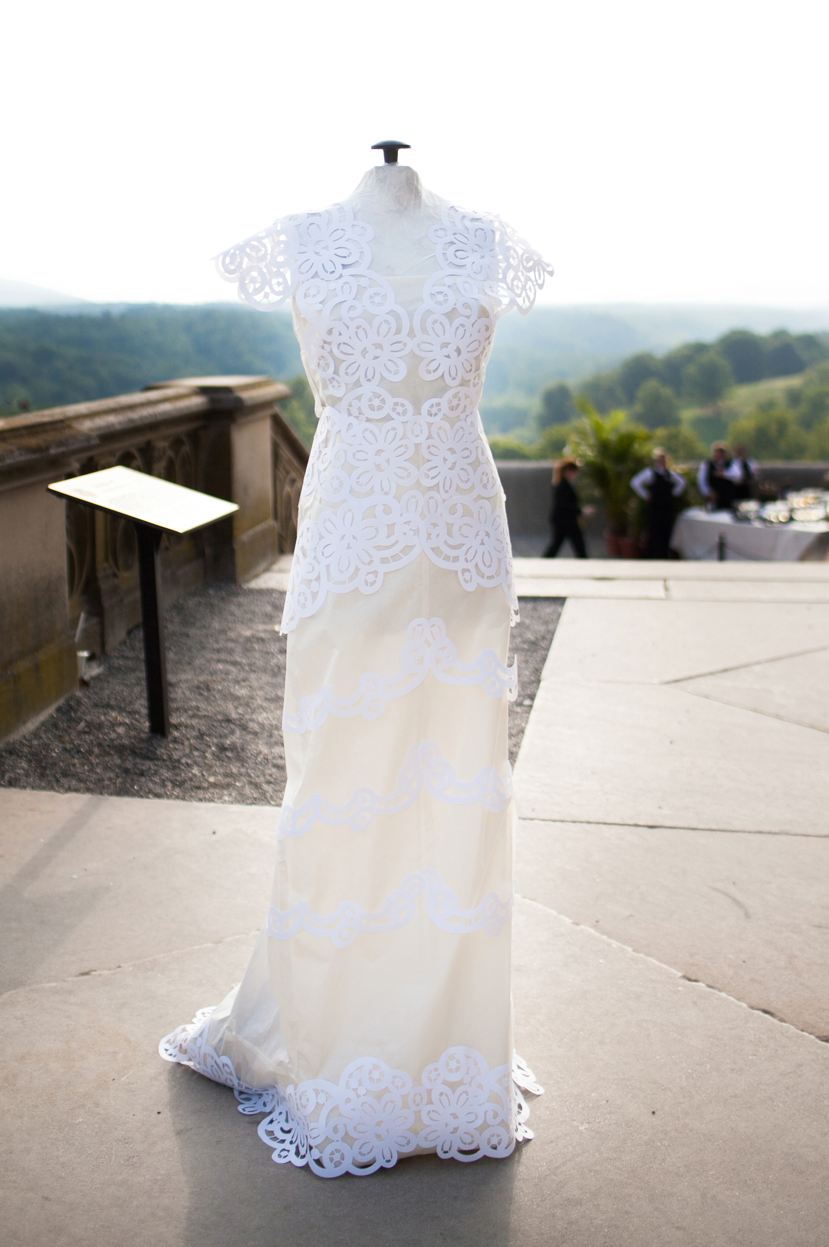 Wedding dress and scenery