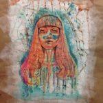Abstract, colorful girl