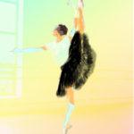 Dancing woman in black skirt