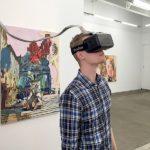virtual reality oculus ryft on a man