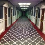 Patterned hallway.