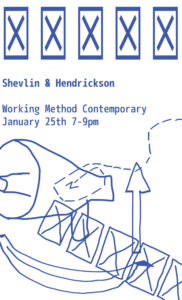 Exhibition poster for Shelvin and Hendrickson