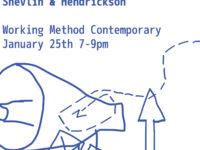 Exhibition poster for Shelvin and Hendrickson